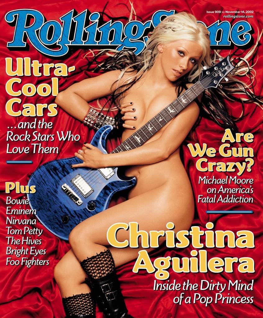 Christina Aguilera na capa da 'Rolling Stone' de novembro de 2002. (Foto: Reprodução)