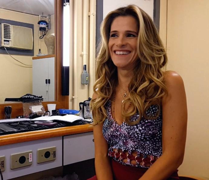 Ingrid Guimarães participa da gravação do Altas Horas (Foto: Reprodução)