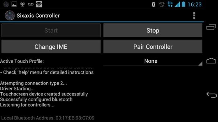 No log, a informações Listing for Controllers indica que basta ligar o controle do PS3. (Foto: Reprodução / Dario Coutinho)