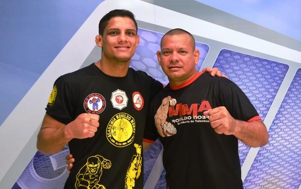 Fabrício Guerreiro e técnico Ronildo Nobre, MMA, Amapá (Foto: Cassio Albuquerque/GE-AP)