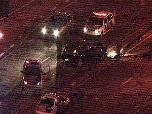 Motorista perde controle da direção e derruba poste de luz em avenida de Campinas (Foto: Reprodução EPTV)