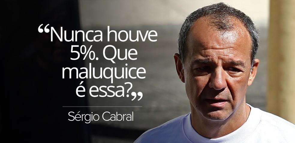 Cabral ao juiz Marcelo Bretas, da 7ª Vara Federal, negou propina (Foto: Fábio Motta/Estadão Conteúdo)