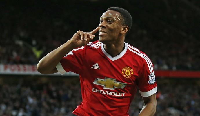 Martial gol Manchester United x Liverpool (Foto: Reuters)