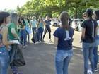 Alunos da UFMS em Campo Grande fazem mutirão contra a dengue