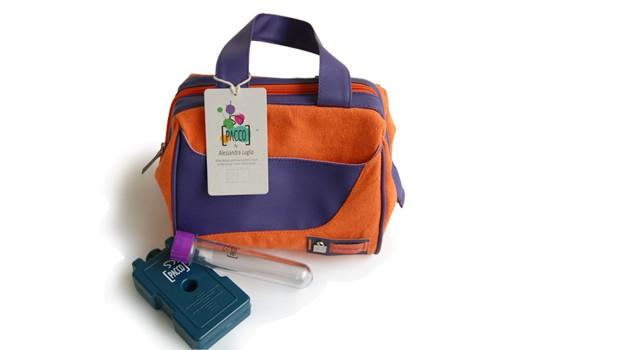 Lancheira térmica 3 P - Laranja (R$ 140,00), da PACCO by Alessandra Luglio |  Ideal para levar lanches para a escola e trabalho. Tem forro impermeável e higiênico (Foto: Divulgação)