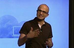 Nadella, CEO da Microsoft, apresenta o Office para iPad (Foto: Divulgação/Microsoft)