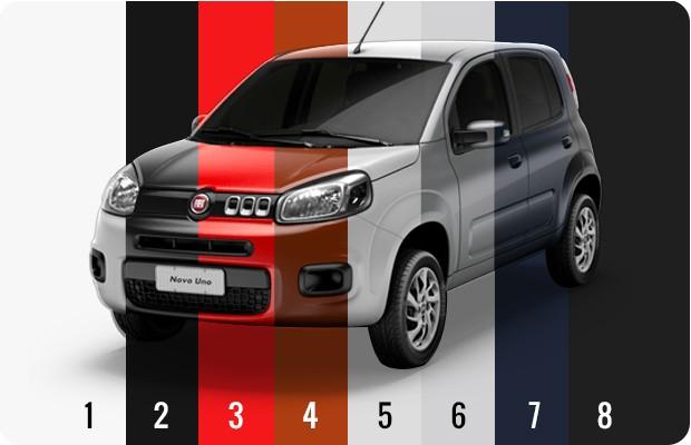 Fiat Uno_Cores (Foto: Autoesporte)