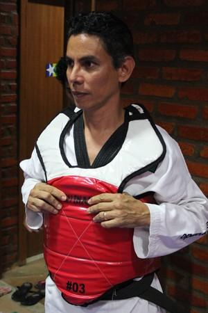 Franck Lopes, presidente da federação de taekwondo de Rondônia (Foto: Hugo Crippa)
