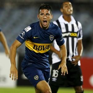Calleri, Montevideo Wanderers x Boca Juniors, Libertadores (Foto: Reuters)