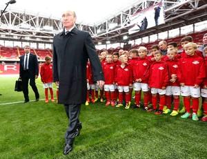Vladimir Putin, inauguração Arena Otkrytie (Foto: Agência Reuters)