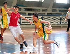 Basquete do Brasil disputa semifinal dos Jogos Sul-Americanos Escolares, em Natal (Foto: Francisco Medeiros/Divulgação)