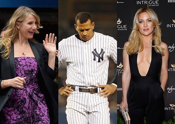 Cameron Diaz, Alex Rodriguez, Kate Hudson (Foto: Getty Images)