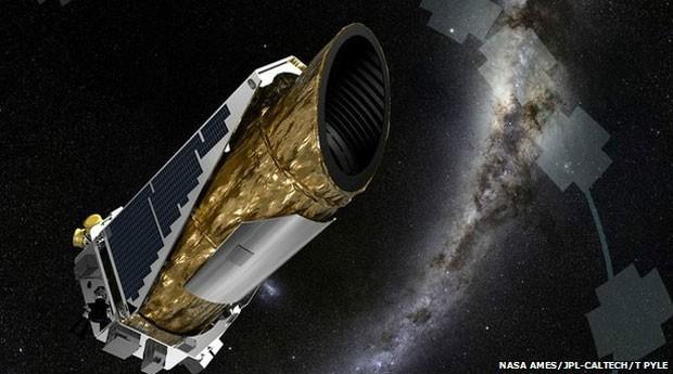 Em ilustração, telescópio Kepler, da Nasa, que forneceu dados usados por pesquisadores na análise de gravidade de estrelas remotas. (Foto: Nasa Ames/JPL-Caltech/T Pyle)