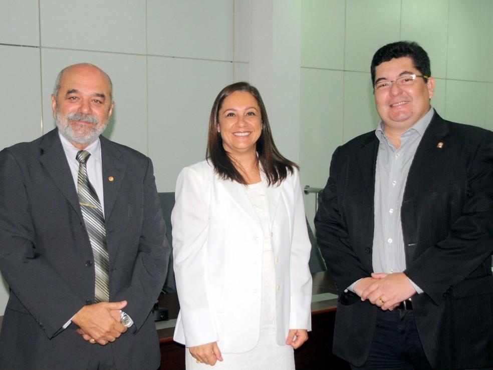Lista tríplice é formada por Ivanildo Alves da Silveira, Iadya Gama Maio e Eudo Rodrigues Leite (Foto: Divulgação/Ministério Público)