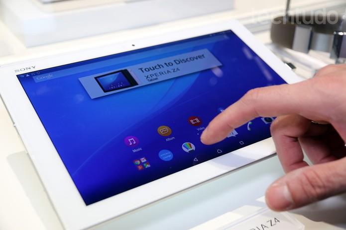 Xperia Z4 Tablet (Foto: Isadora Díaz/TechTudo)