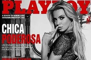 Capa da 'Playboy' argentina neste ano com a brasileira Veridiana Freitas