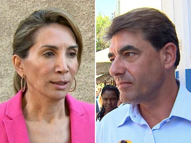 Os candidatos à Prefeitura de Ribeirão Preto, Dárcy Vera e Duarte Nogueira (Foto: Arte EPTV)