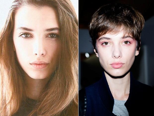 Modelos com cabelo curto no SPFW N42 (Foto: Reproduo/Instagram e Elisa Mendes)