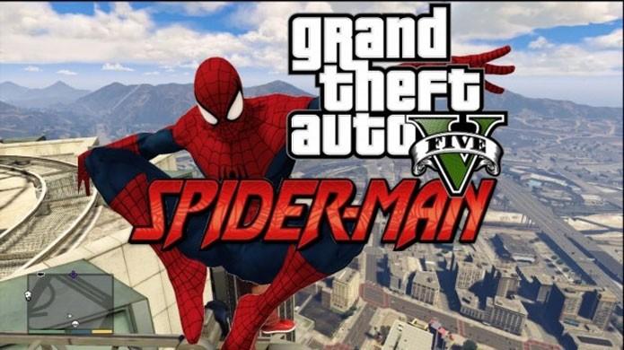 [PC]GTA 5: novo mod adiciona Homem-Aranha no popular game de ação Gta-5-aranha