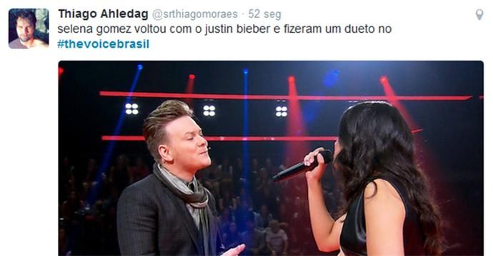 Justin Selena Teló Voice (Foto: Reprodução/Internet)