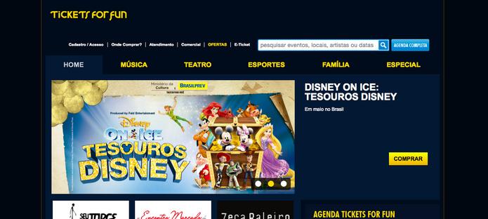 O site Tickets For Fun é ótima opção para buscar programas para fazer com crianças (Reprodução/ Gabriella Fiszman)