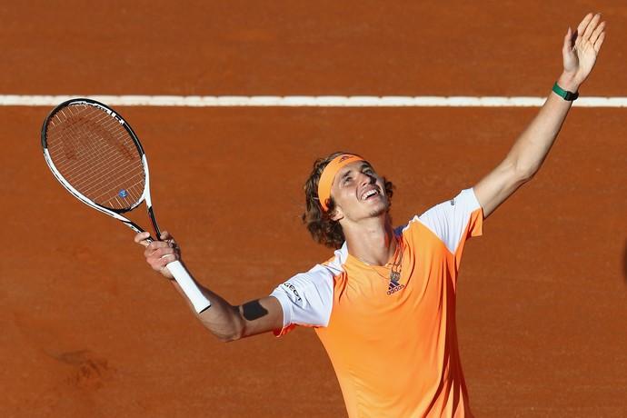 Alexander Zverev comemora classificação para final no Masters 1000 de Roma (Foto: Getty Images)