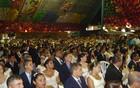 Casamento coletivo reúne vários casais  (Rafael Melo/G1)