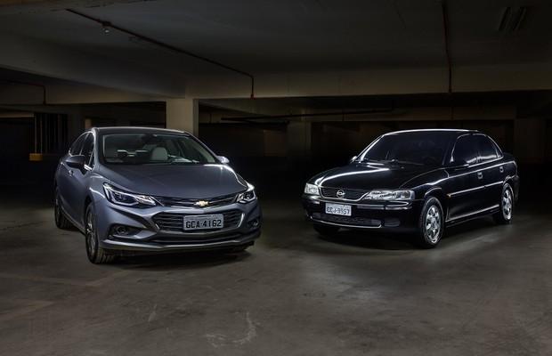 Chevrolet Cruze e Vectra (Foto: Marcos Camargo/Autoesporte)
