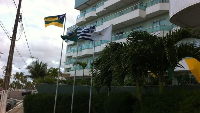 Comitiva grega ficará em hotel vizinho ao da seleção (Foto: Felipe Martins)