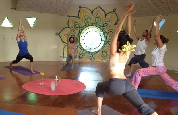 Alto Paraíso possui diversos locais para prática de meditação e yoga, em Goiás (Foto: Elisângela Nascimento/G1)
