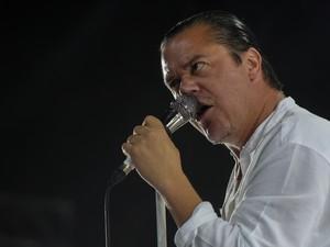 Faith No More toca no Espaço das Américas, em SP, nesta quinta (24). O grupo é atração de sexta no Rock in Rio (Foto: Flavio Moraes/G1)