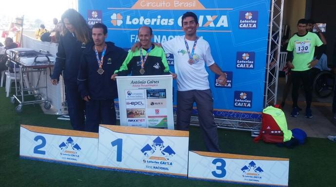 Antônio Caires conquistou ouro nos 1500 metrosna categoria T 36 (Foto: Marciano Barros/ Arquivo Pessoal)