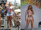 Claudia Leitte repete look em bloco de Olinda