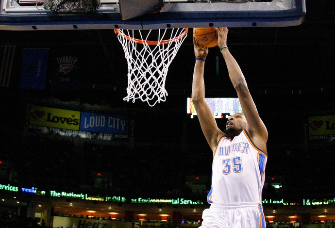 Kevin Durant Oklahoma City Thunder x Golden State Warriors (Foto: AP)