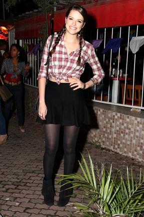 Agatha Moreira em festa na Zona Oeste do Rio (Foto: Anderson Borde e Francisco Silva/ Ag. News)