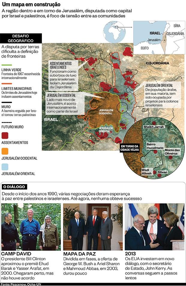 Um mapa em construção (Foto: Cynthia Johnson/Liaison, Getty Images e Win McNamee/Getty Images)