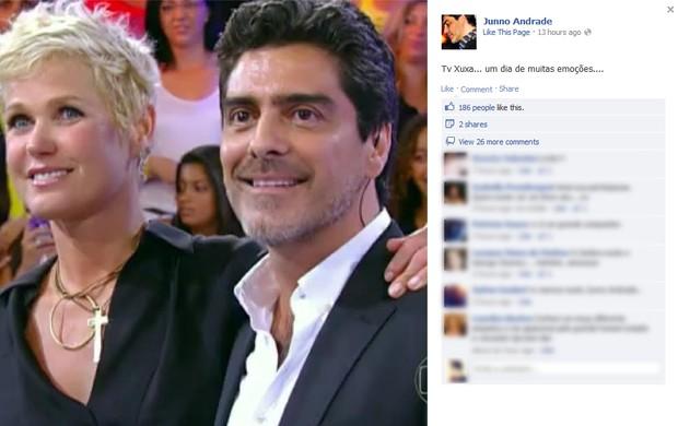 Xuxa e Junno Andrade (Foto: Facebook/Reprodução)