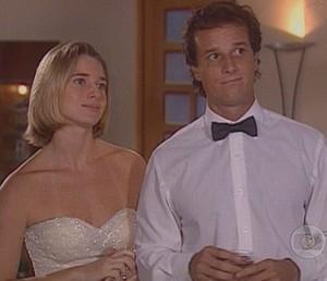 Em 'Zazá', Letícia e Marcello foram Beatriz e Hugo (Foto: TV Globo)