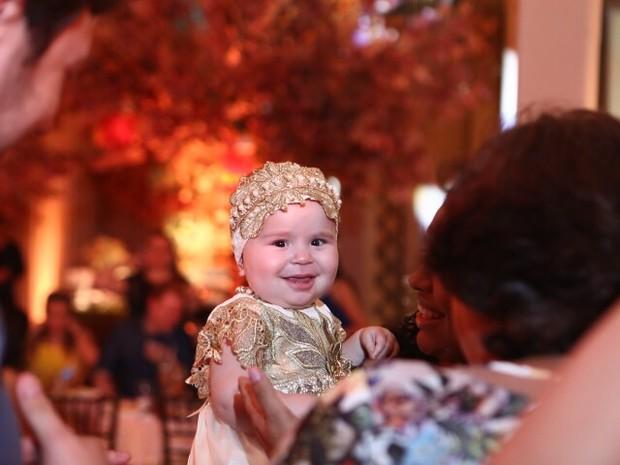 Maria Esther, filha de Solange Almeida e do empresário Wagner Miau, em festa em Fortaleza (Foto: Josefa Coimbra/ Divulgação)