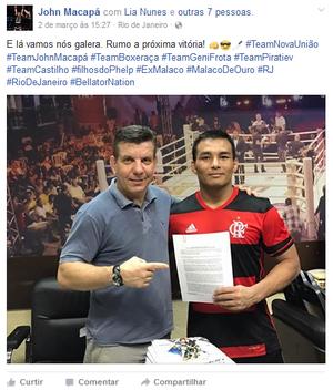 John Macapá; MMA; Bellator (Foto: Reprodução/Facebook)