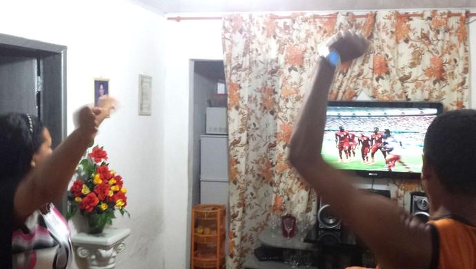 Comemoração Gol Gana (Foto: Kleverton Amorim / Arquivo Pessoal)