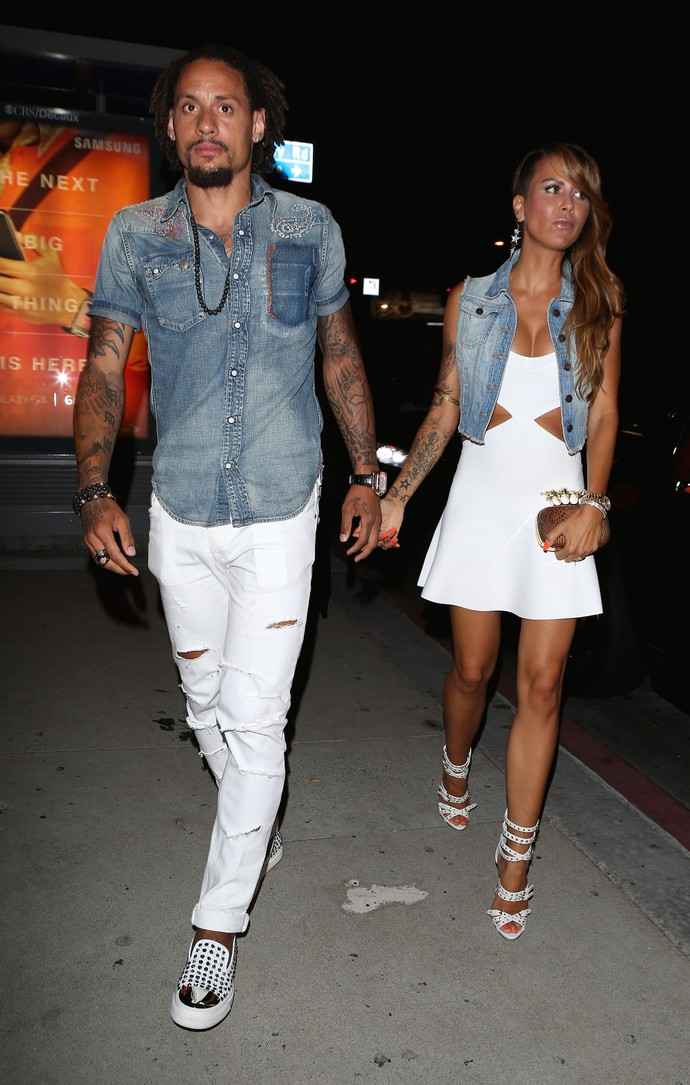 Jermaine Jones e sua esposa Sarah chegam na festa ESPY na boate Bootsy Bellows em Beverly Hills (Foto: Splash News/AKM-GSI)