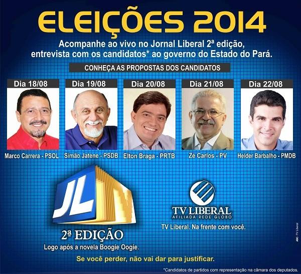 TV Liberal: eleições 2014 (Foto: Arte TV Liberal)