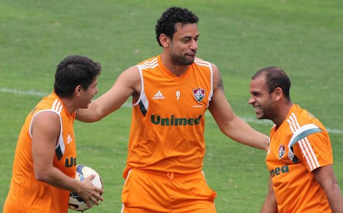 Treino Fluminense Conca Fred Carlinhos (Foto: Fernando Cazaes / Photocamera)