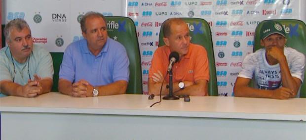 Marcelo Mingone anuncia saída de Fabinho do Guarani (Foto: Reprodução / EPTV)