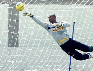 Jefferson no treino do Botafogo (Foto: Jorge William / Ag. O Globo)