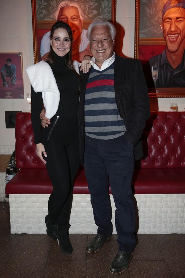 Alexandra Martins e Antônio Fagundes (Foto: Rafael Cusato/Brazil News)