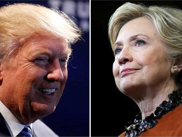 Candidato republicano à Casa Branca, Donald Trump, e candidata democrata, Hillary Clinton (Foto: Carlo Allegri/ Reuters)