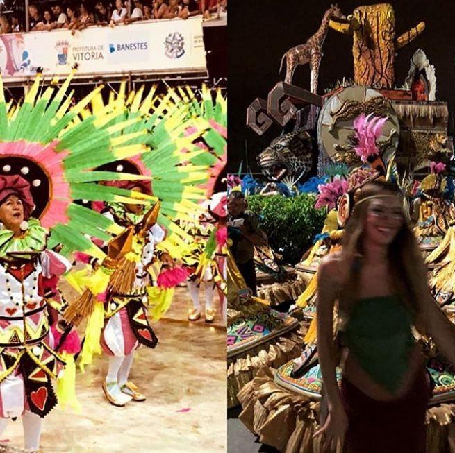 Candice Swanepoel entra no clima de Carnaval no Sambão do Povo (Foto: Reprodução/Instagram)