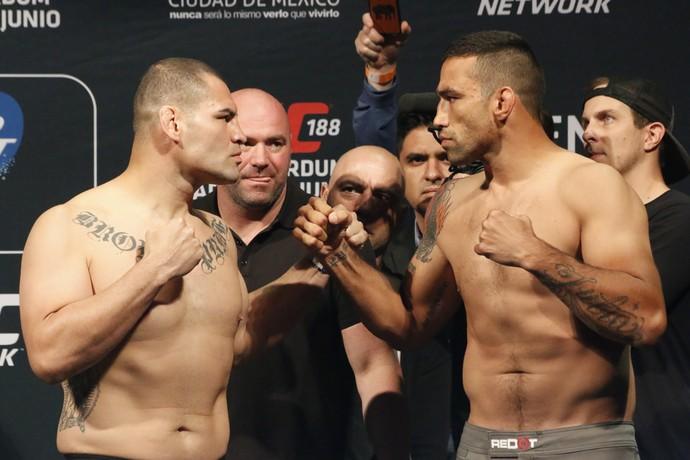 Encarada Fabrício Werdum x Cain Velasquez, UFC 188 (Foto: Evelyn Rodrigues)